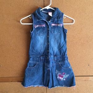 Other - Jean dress with pink accents